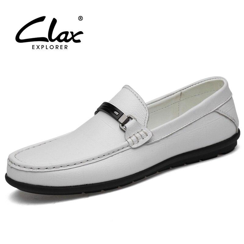 CLAX Men Shoes Genuine Leather Summer Man's Moccasins Designer Male Shoe Social Boat Footwear Loafer Luxury Brand