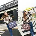 2017 New Fashion Waterproof Nylon Women Colorful flower print Travel Bag Large Hand Luggage Bags Free Shipping For Gift