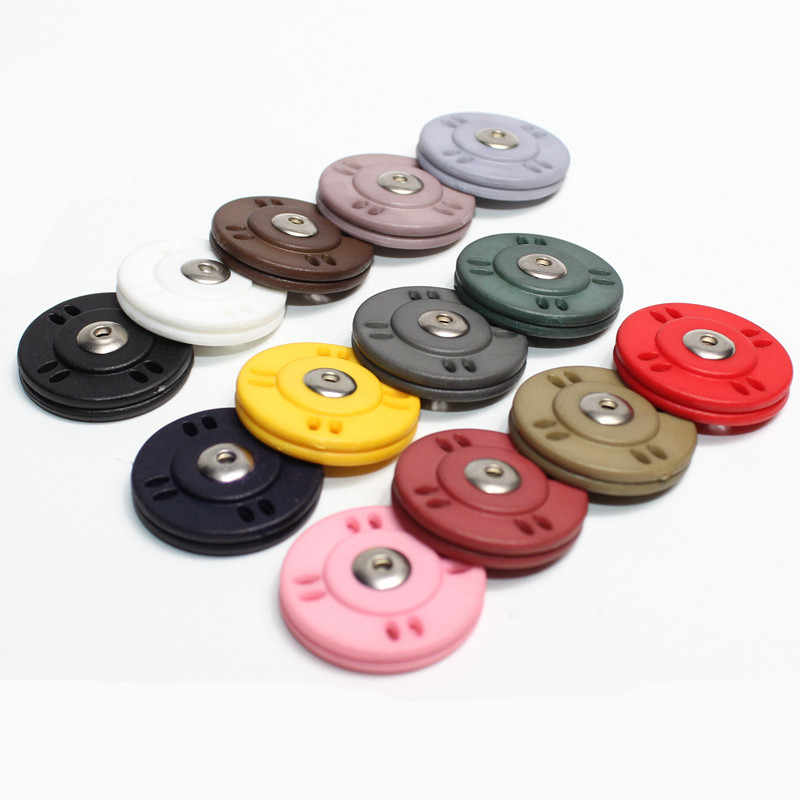 5pairs/lot Brand Snaps Buttons Ultra thin Press Button Fasteners  Covered button DIY Sew Clothing Accessories 30 color