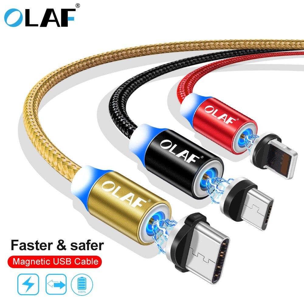 Olaf 1 M Led Magnetische Ladegerät Micro Usb Kabel Für Iphone X Xr Xs Max Schnelle Lade Usb Typ C Für Xiaomi Kabel Lade Draht Kabel