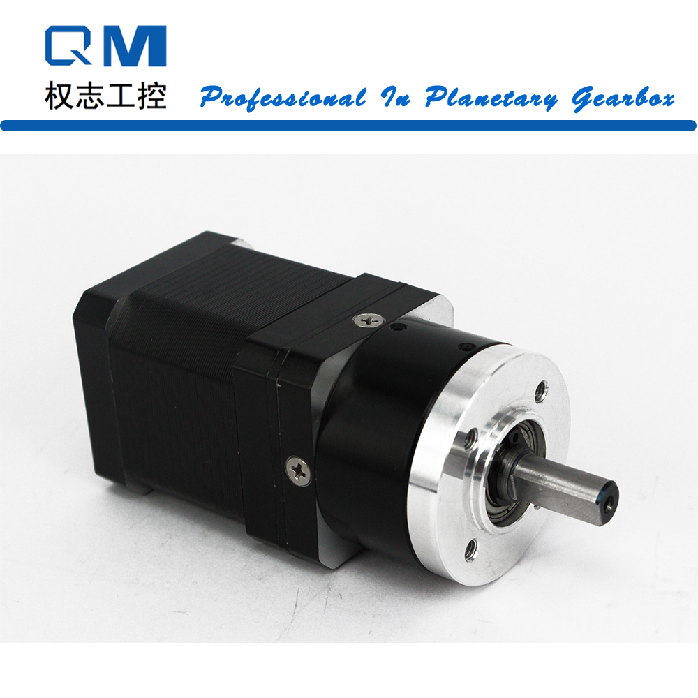 Geared stepper motor planetary reduction gearbox ratio 4:1 nema 17 stepper motor L=48mm cnc robot pump 57mm planetary gearbox geared stepper motor ratio 10 1 nema23 l 56mm 3a