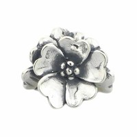 Authentic 925 Sterling Silver Apple Blossom Charm Beads Fits European DIY Troll 3mm Bracelet Necklace Jewelry