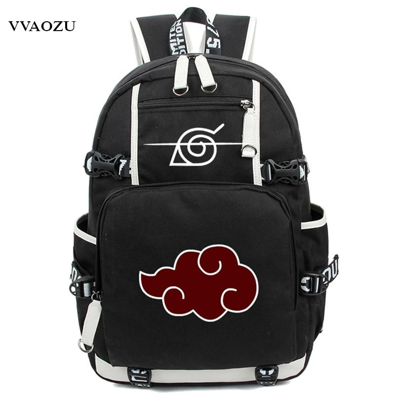 New Arrival Cartoon Naruto Backpack Anime Akatsuki Sharingan Printing Cosplay School Backpacks Laptop Shoulder Bags