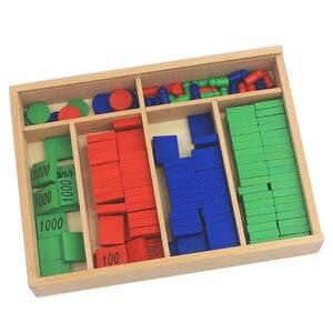 Image 3 - New Arrival Montessori วัสดุไม้ของเล่นแสตมป์เกมขนาดใหญ่ Beech ไม้คณิตศาสตร์ของเล่นเด็ก Early การศึกษาเด็กของขวัญวัน