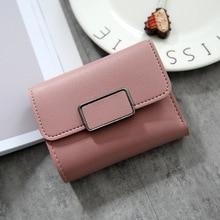 2019 New fashion women wallet hasp clutch wallet female fold short  money bag card holder high quality  credit card holders стоимость