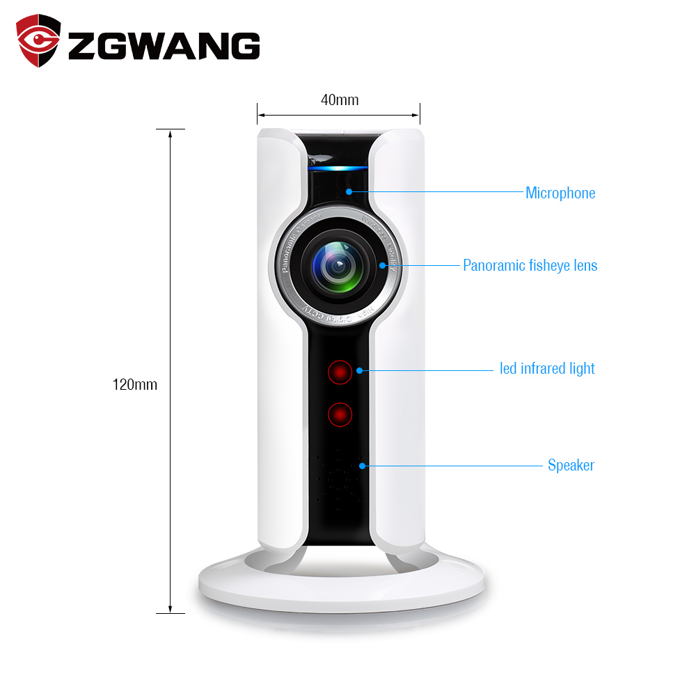 Mini Wifi VR IP Camera Wireless 720P HD Smart 180 panoramic Network CCTV Security Camera Home Protection Surveillance Cam  jimi jh09 3g hd 720p wifi ip camera wireless network home security camera cctv surveillance mini camera support iphone android