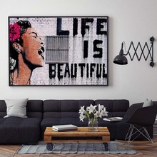 Graffiti Poster Banksy Style Canvas Painting Abstract Figure Posters and Prints Wall Art Pictures For Living Room Home Decor
