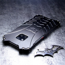 Funda de aluminio para HUAWEI Mate 30 Pro carcasa de armadura de Batman para P40, P30, P20, 20 Pro, 20X, 5G lite, nova 6, 7 se, a prueba de golpes