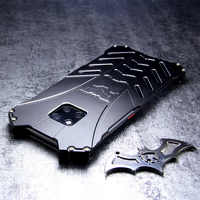 Pour HUAWEI Mate 20 Pro Coque Batman armure aluminium métal pour Huawei Mate 20 Lite Mate20 Coque antichoc