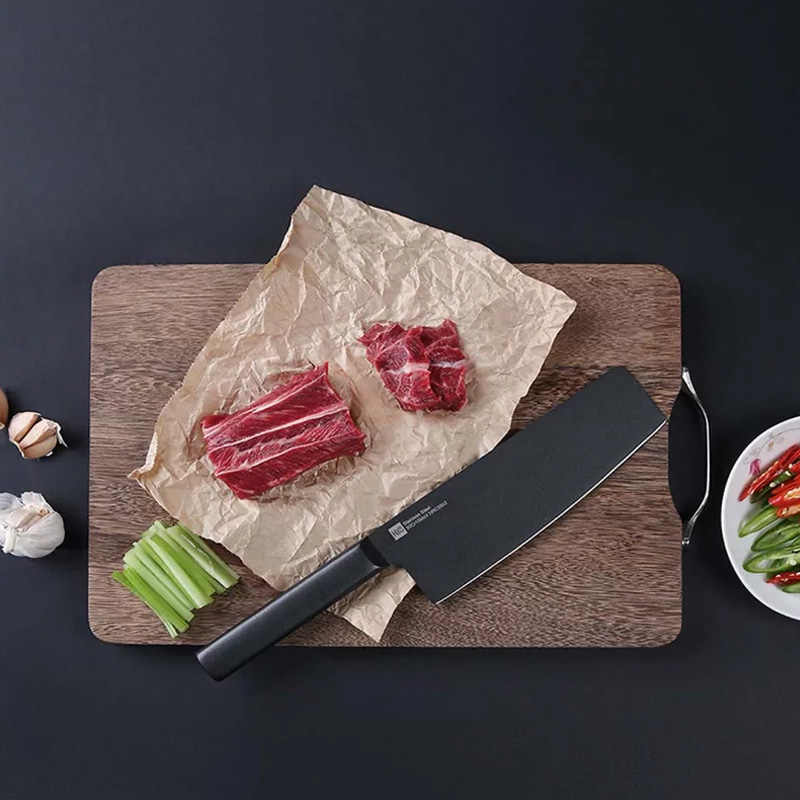 Original Xiaomi Huohou Kitchen Knife Stainless Steel Knife Knives Cook Set 7 Inch Material 50Cr15MoV HRC 55 for Family gift