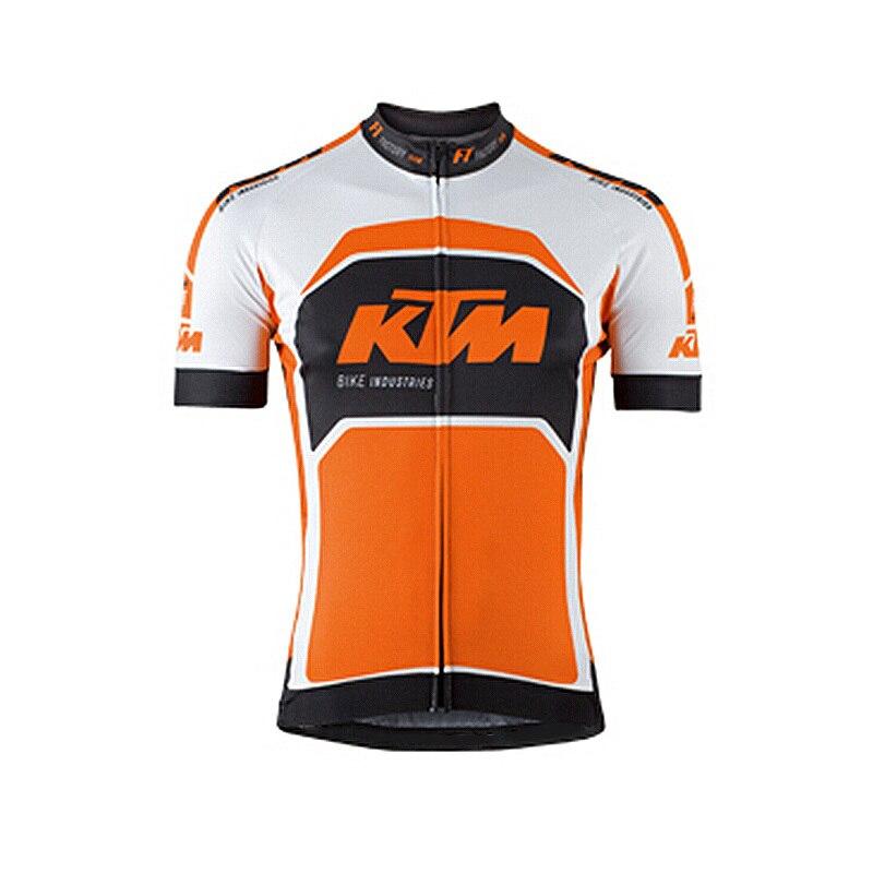 Prix pour KTM Maillots de Cyclisme Maillot Ropa Ciclismo Hommes D'été Cyclisme Clothing Vtt Vélo À Manches Courtes Meilleur Tissu