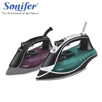 Original Colorful 2200W Portable Electric Steam Iron For Clothes High Quality Three Gears Ceramic Soleplate 220V
