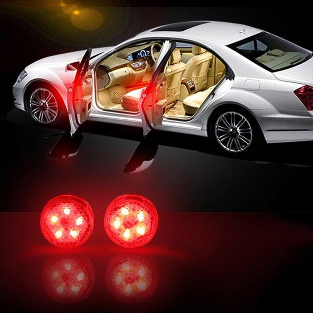 2 個/4 個ユニバーサルワイヤレス磁気 5 led警告灯防水ストロボ車のドア開口部アンチコリジョンセキュリティフラッシュランプ