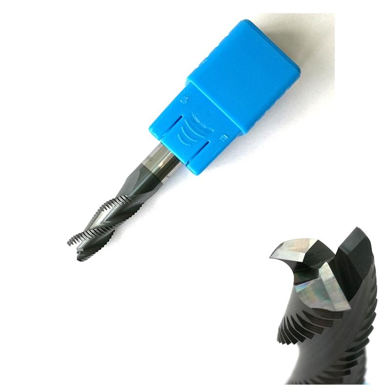 Hartmetallfräser eingestellt für Aluminium 4mm 12mm Schaft CNC Fräser