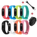 Hot Replace Strap+charger+screen protector for Xiaomi Mi Band 2 MiBand 2 Silicone Wristbands for Xiaomi Band 2 Smart Bracelet
