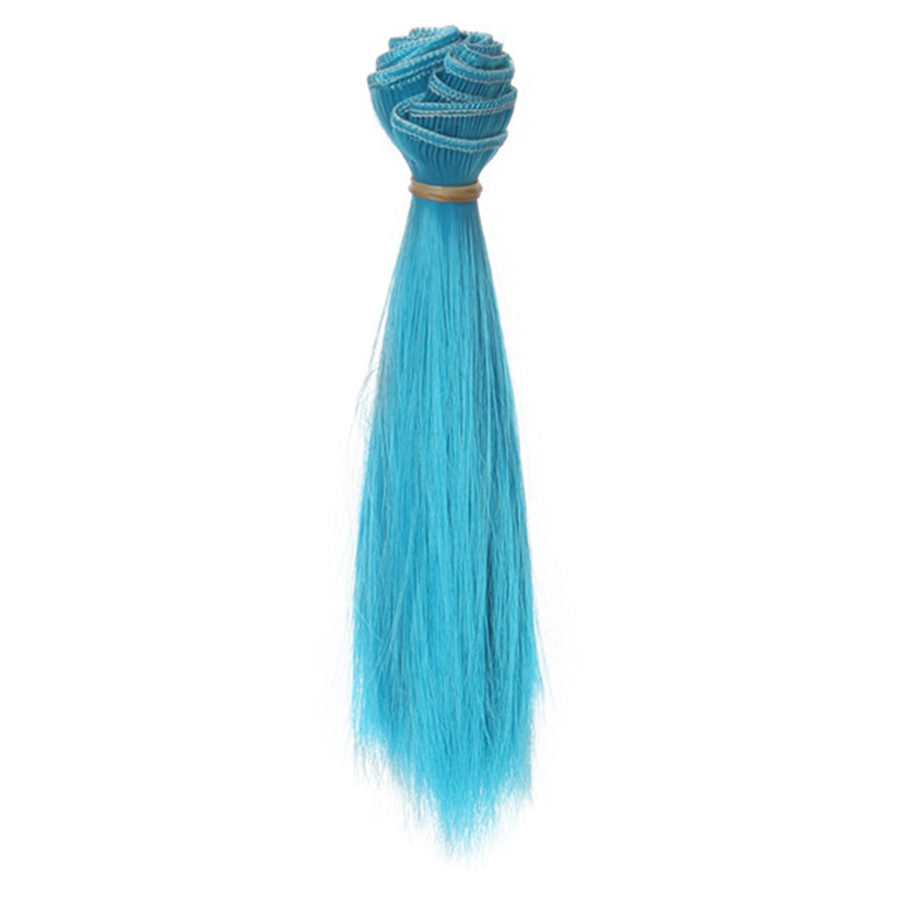 1 Pc 15*100cm Doll Accessories Straight Synthetic Fiber Wig Hair For Handmade Cloth High-temperature Wire Diy Texitle-4