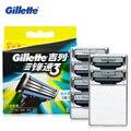 Подлинная Gillette Mach 3 для Бритья Лезвия Для Мужчин (6 Бит) руководство Три Слоя Бритвы Cuchillas Де Afeitar Mach 3