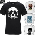 Top quality 100% cotton T shirt short sleeve casual cool skull print T-shirt men punk T shirt T01
