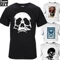 Top quality 100% cotton T shirt short sleeve casual cool skull print T-shirt men punk T shirt T01