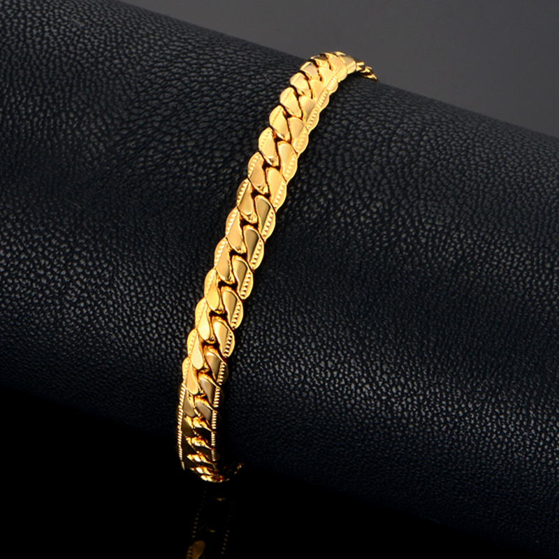 Mens Chain Braclet For Men Jewelry Braslet 2019 Male Gold Color Snake - Fashion Jewelry - Photo 4