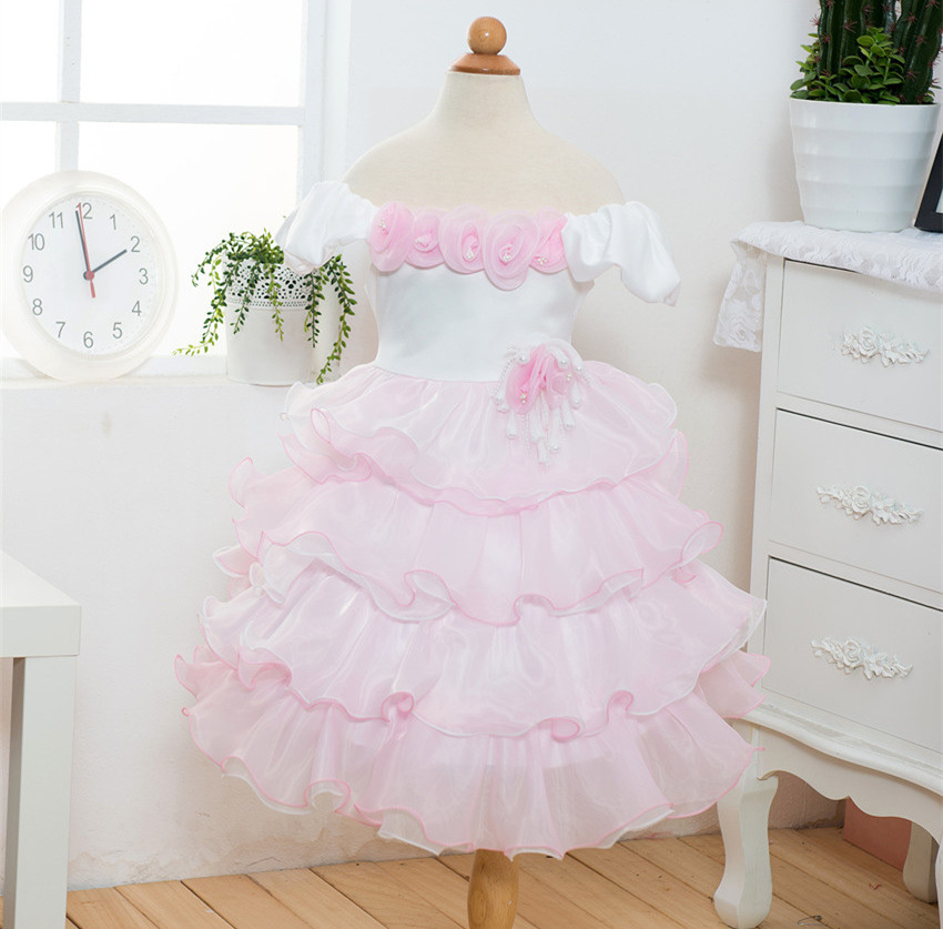 Girls princess dress for wedding tutu ruffle children age 3 4t 5t 6 7 8 9 10 years party dress baby robe princesse 2017 spring baby girls princess dress floral design ruffle sleeves fashion cute dress for kids age 5 6 7 8 9 10t years old girl