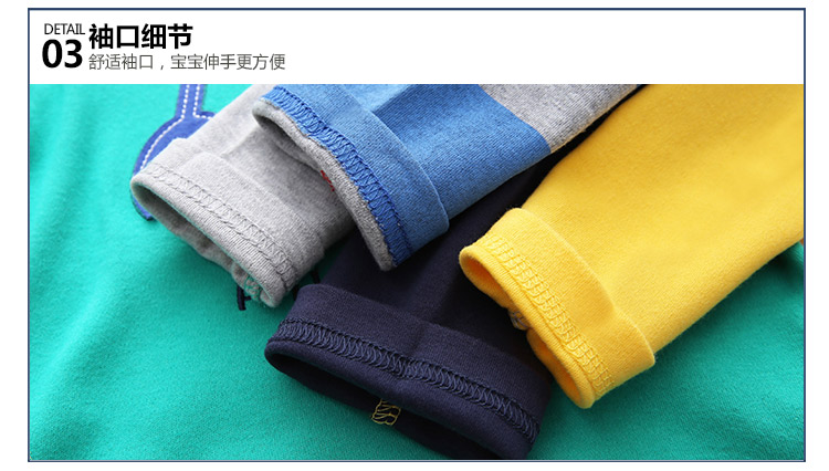 2018 Spring Autumn For 2-9 10 Years Children Cotton Striped Patchwork Cartoon Car Bus Truck Baby Kids Boys Long Sleeve T Shirts (56)