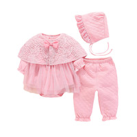 Lawadka Newborn Baby Girl Clothes Cotton Coveralls Rompers Princess Winter Warm Baby Set Girl 1st Birthday Party Clothes