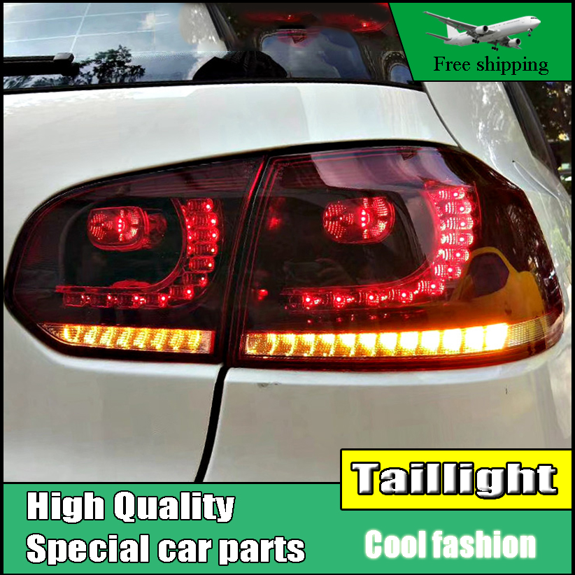 цена Car Styling For Volkswagen Golf 6 R20 2009-2013 Dynamic Turn Signal Taillights LED TailLight LED Rear Lamp Brake+Reversing Light