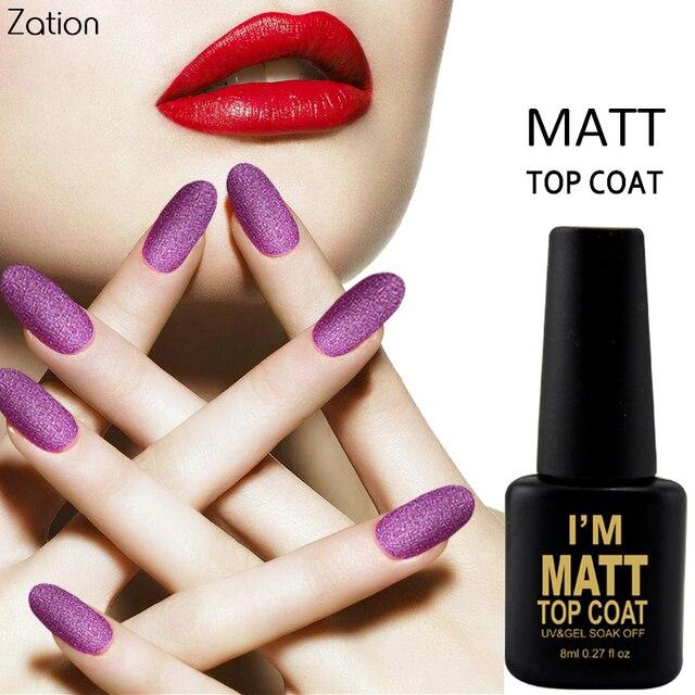 Zation Nail Art Matte Top Coat Design High UV LED 8ml Base Coat No ...