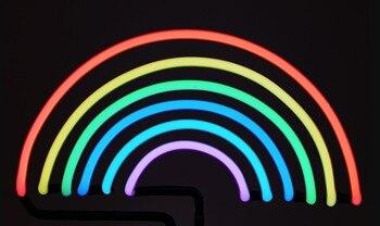 Custom Rainbow Glass Neon Light Sign Beer Bar