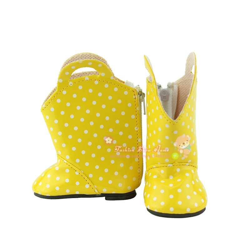 Doll accessories ,Yellow boots  shoes fit 43cm Baby Born zapf,  Children best  Birthday Gift