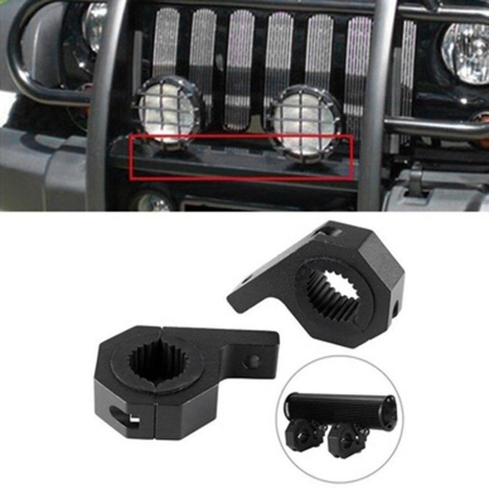 2pcs Universal 15-30mm Mount holders Bracket Fog Driving Light Spotlight holder Clamp Bracket for Car Motorcycle Crash Bar Guard