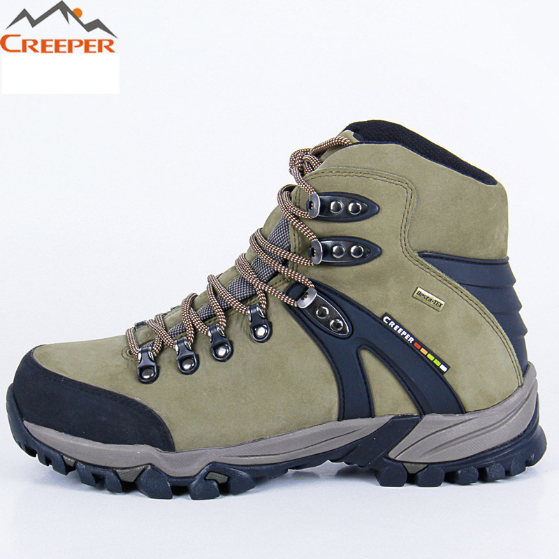 CREEPER Cowhide Leather Hiking Shoes Outdoor Sports Boots Trekking Shoes Waterproof Mountain Climbing Shoes zapatos senderismo clorts women hiking shoes outdoor trekking shoes waterproof lace up mountain shoes suede leather female climbing shoes hkl 826e