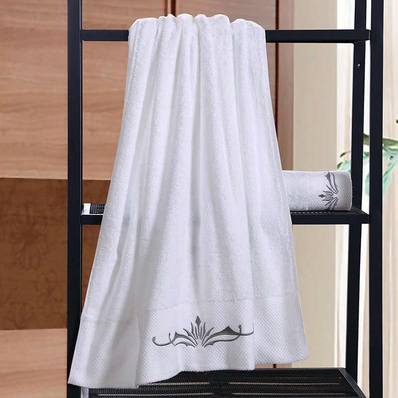 綿 100% 厚み刺繍タオル高級ホテルのバスタオルファミリーカップルバスタオルバッチカスタマイズロゴ 35*75/ 70*140