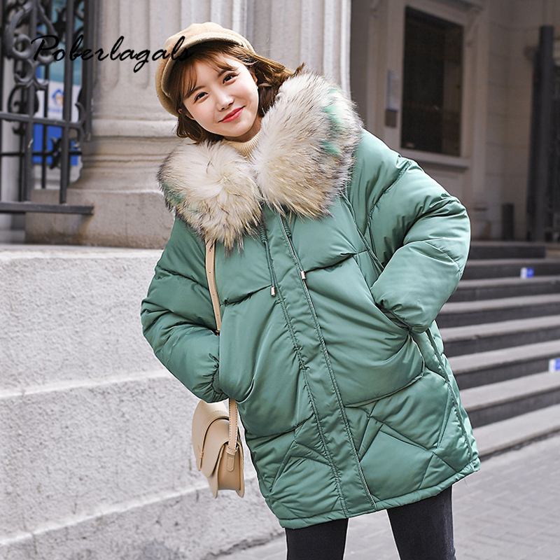 Winter jacket   parkas   2019 autumn women Korean cotton-padded jackets coat women's thick down cotton padded warm bread coat