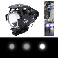2PCS 125W 3000LM Waterproof Motorcycle Truck U5 LED Headlamp Additional Fog Lamp Motorcycle Headlight Spot Lights
