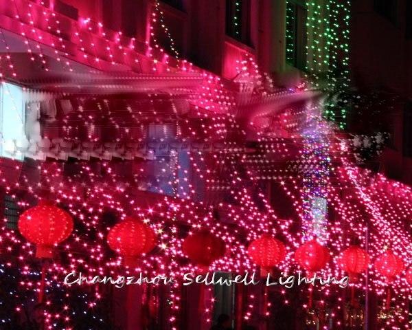 Топ моды срочная Navidad Рождественское украшение Рождественская елка хорошо! Светодиодные лампы двора украшения 4*4 м светодиодный фон лампа