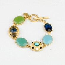 Новое поступление ювелирные изделия Блестящий Драгоценный Камень высокого качества цвет шикарные браслеты и браслеты в браслете
