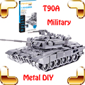 New Year Gift T90A Military Tank 3D Metal Model Tank Alloy Collection Model Toys DIY Education Family Game Home Steel Decoration