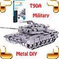 Regalo de año nuevo T90A tanque militar Metal 3D modelo de la aleación del tanque Collection modelo juguetes DIY educación juego de la familia hogar decoración de acero