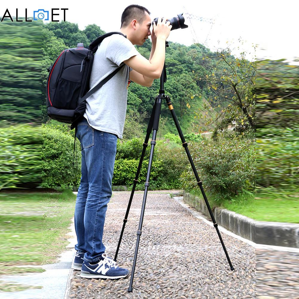 Professional Q666 Aluminium Tripod Monopod Ball Head For Canon Pentax Sony Olympus DSLR Camera portable digital slr camera tripod stand ball head for canon nikon sony olympus pentax dslr dv camcorer lowangleshooting bk 555