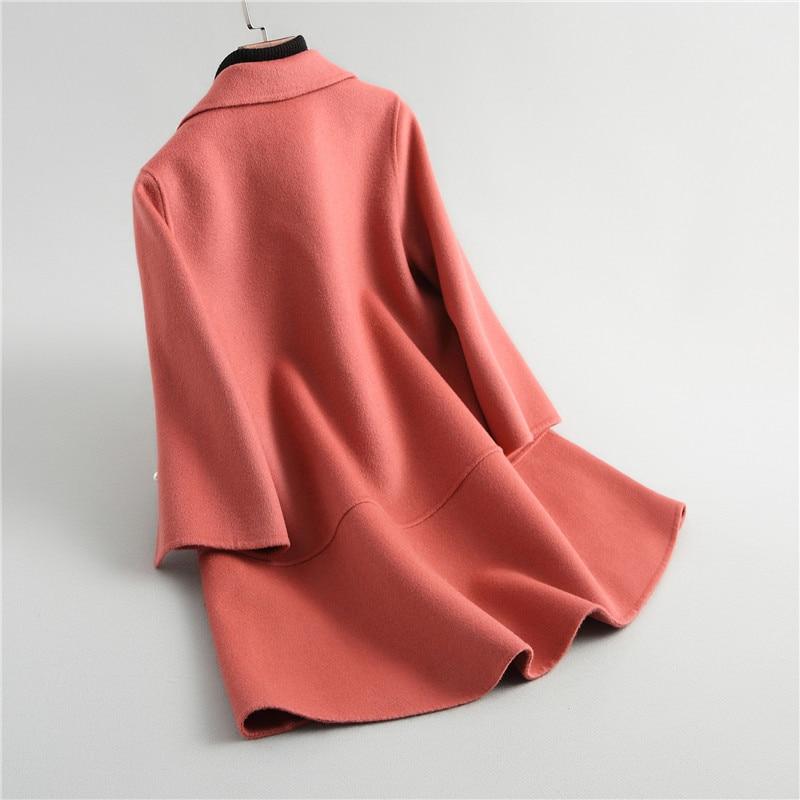 Nouvelle Beige De rouge Maylooks Fourrure rose Mode 38055 2018 Manteau gqS5xwZ5