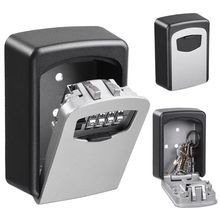Wall-mounted 4 Digit Password Combination Security Storage Box Key Safe Lock Case