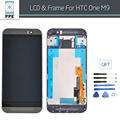 Complete Lcd For HTC One M9 LCD Display with Touch Screen with Frame Bezel Assembly Replacement Gray Silver Gold Original+Tools