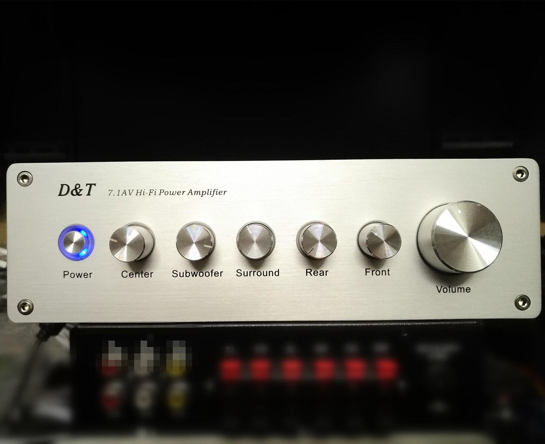 7.1-canal amplificateur 8-channel home cinéma de faible puissance audio amplificateur