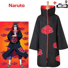 Anime NARUTO Akatsuki Uchiha Itachi Cosplay Costumes unisexe enfants adultes Ninja cape combinaisons cape + bandeau Robe costume P