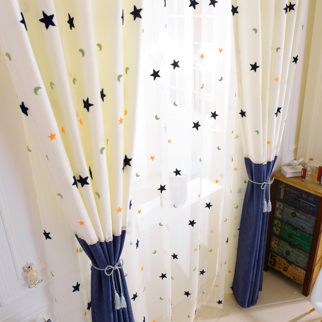Stars Print Curtains for Baby/Kids Room