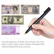 Поддельный детектор денег, ручка, удобный поддельный тестер банкнот, тестер банкнот, маркер для проверки наличных, для долларов США, банкнот, евро, фунта, иен
