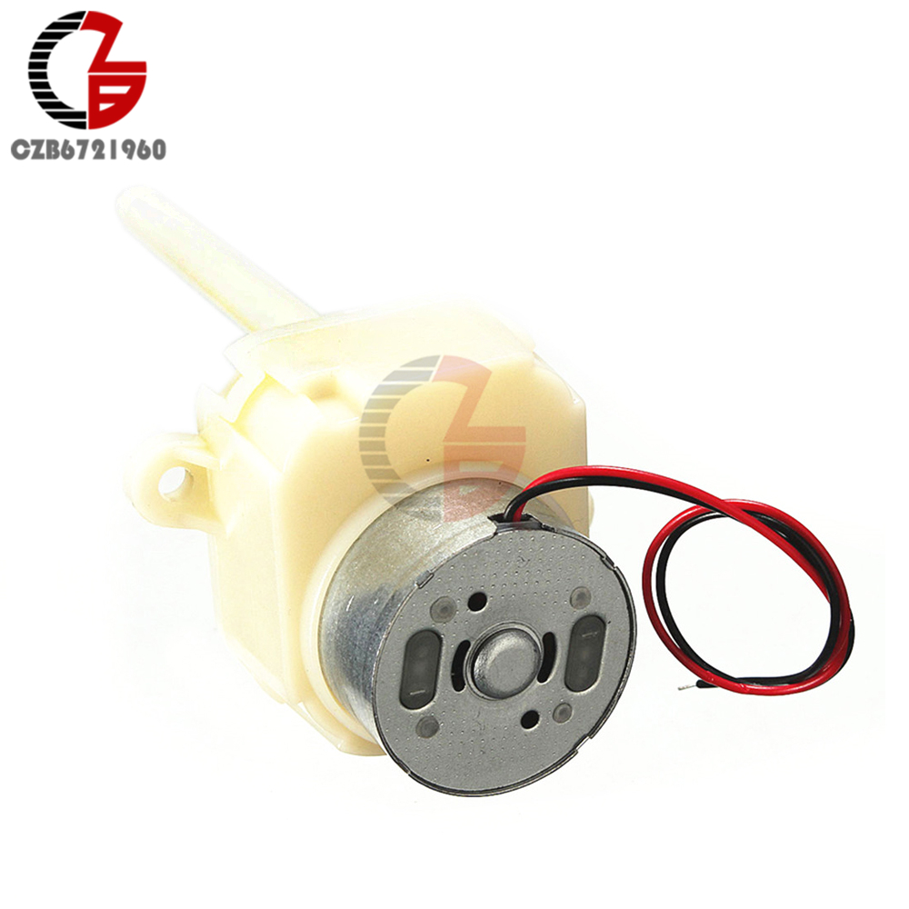 Micro DC Motor 6V 12V Worm Gear Motor Long Shaft Turbine Slow Reduction Gear Box AS 8-16RPM for TOY Hobby Electronic DIY surwish fb highspeed long axis motor for no 2 gear box modified blue