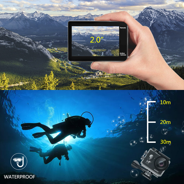 "EKEN H9R / H9 Action Camera Ultra HD 4K / 30fps WiFi 2.0"" 170D Underwater Waterproof Helmet Video Recording Cameras Sport Cam 2"